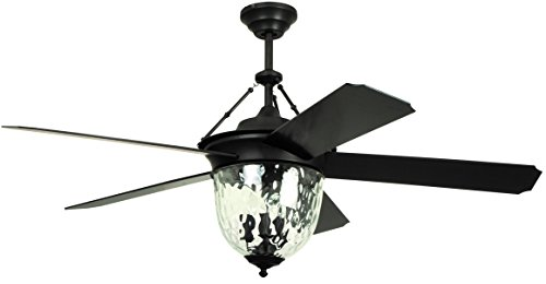 outdoor ceiling fans with lights litex e-km52abz5cmr knightsbridge collection 52-inch indoor/outdoor ceiling  fan with remote control, five wvwpphc