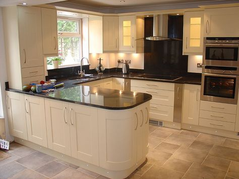 painted ivory solid wood kitchen cabinets, l shaped island caxqdfn