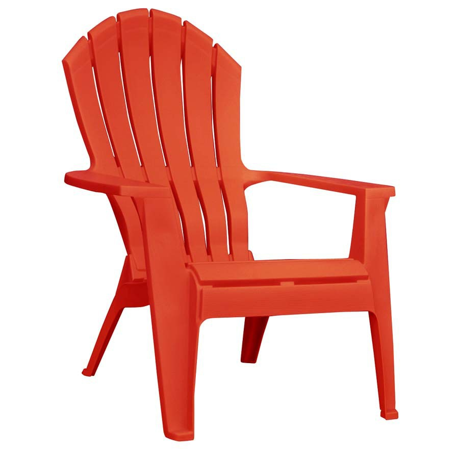 plastic adirondack chairs adams mfg corp 1-count red resin stackable patio adirondack chair with pmzmely