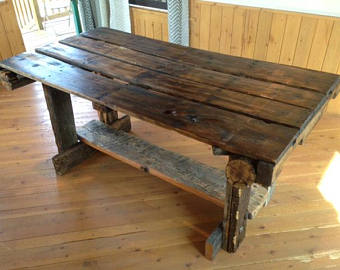 reclaimed wood dining table rustic dining tables - reclaimed wood tables - rustic kitchen tables - tcmxkws