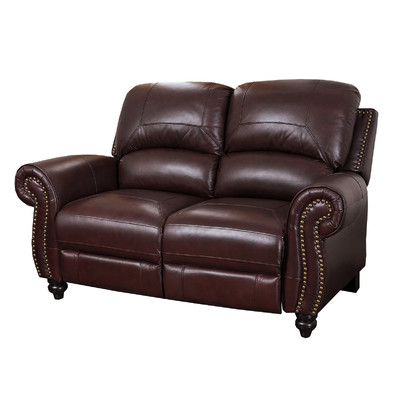 reclining leather loveseat darby home co kahle leather reclining loveseat u0026 reviews | wayfair qlijkmm