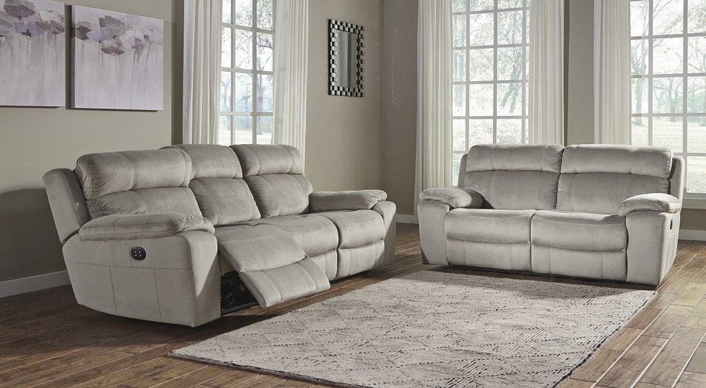 The choice of a reclining sofa and loveseat
