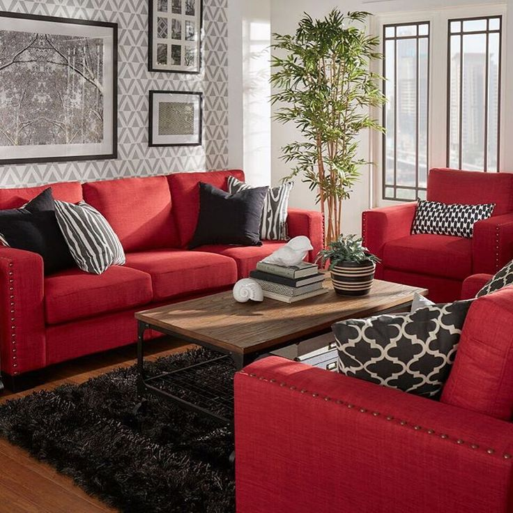 red living room furniture bold red couches! what a statement! #redcouch #statementcolor #livingroomu2026 gpbqhnb