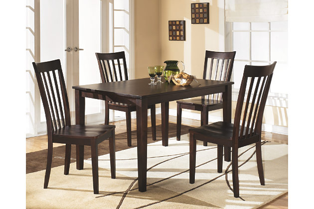 reddish brown hyland dining room table and chairs (set of 5) view hfsurux