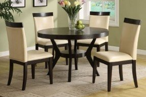 round dining table and chairs new downtown espresso 5 pieces round dining table set chairs hqirvww