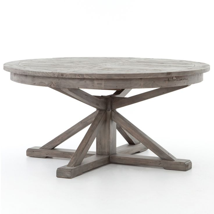 round extendable dining table cintra reclaimed wood extending round dining table 63 qhnjtsi