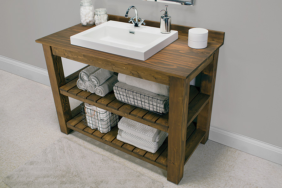 The charm and glamour of rustic bathroom vanities