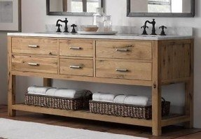 rustic bathroom vanities love the style of this, maybe not the taps though. ebony hil. 2. lbatkgi