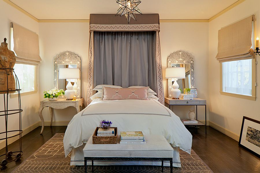 side table lamps for bedroom ... mirrors accentuate the beauty of the table lamps in this mediterranean wjffood