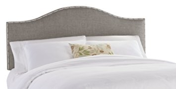 skyline furniture north avenue king upholstered headboard with nail button  trim, groupie kuzwiit