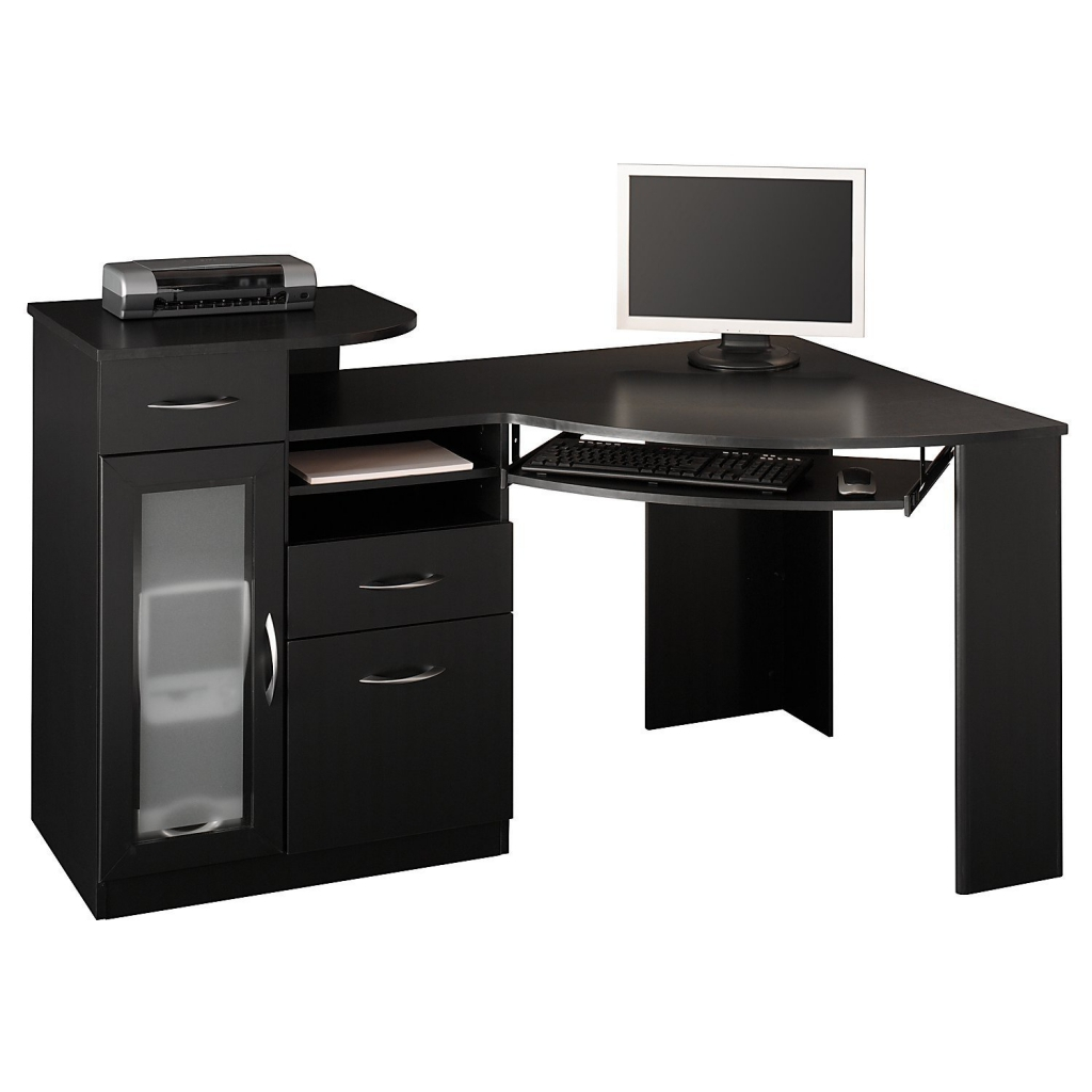 small black computer desk ... fabulous small computer desk ideas with office table small corner  pertaining jactkmr