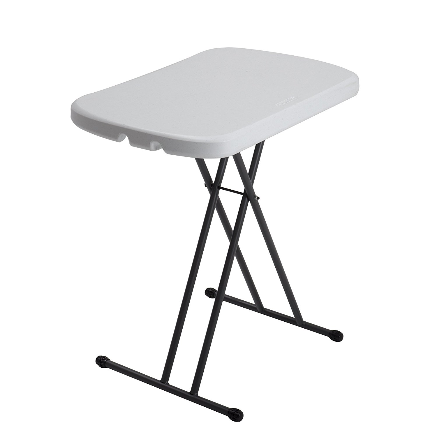 small plastic folding table amazon.com: lifetime 80251 height adjustable folding personal table, 26  inch, white granite: gyqtnsp