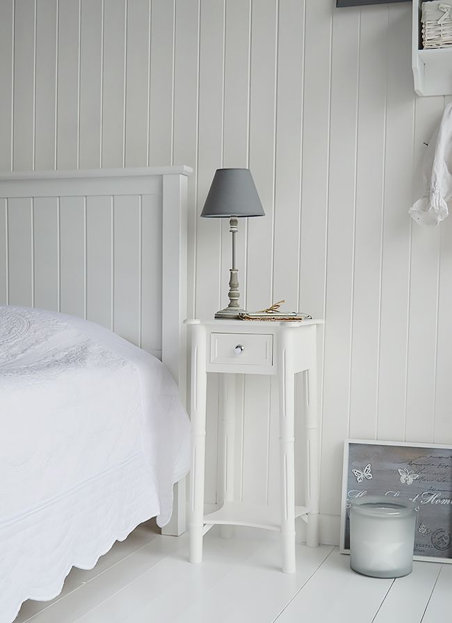 small white bedside table new england white beside table with silver handle. a tall narrow nightstand yvucofb
