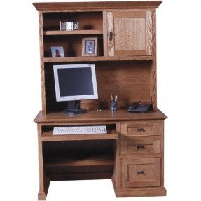 solid wood computer desk 48 mission wood computer desk with hutch by forest wwcvlob