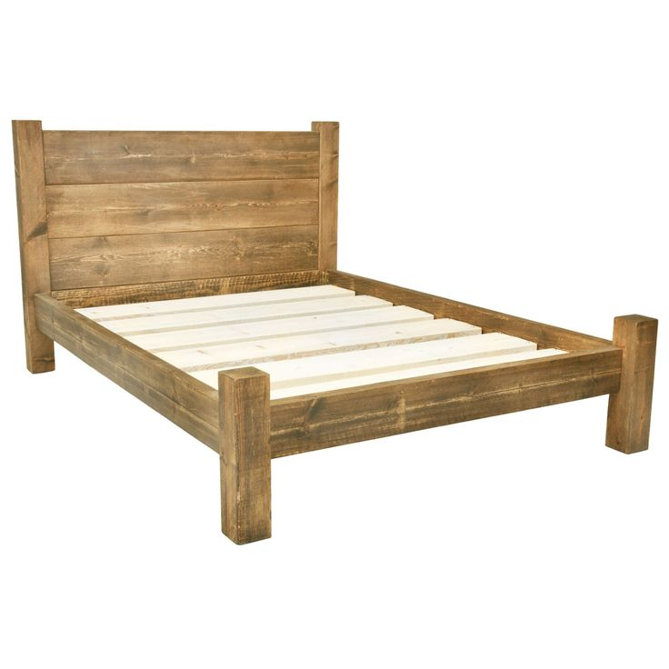 super king size bed frame solid wooden chunky bed frame in a choice of sizes single, double, kingsize, vokgtfv