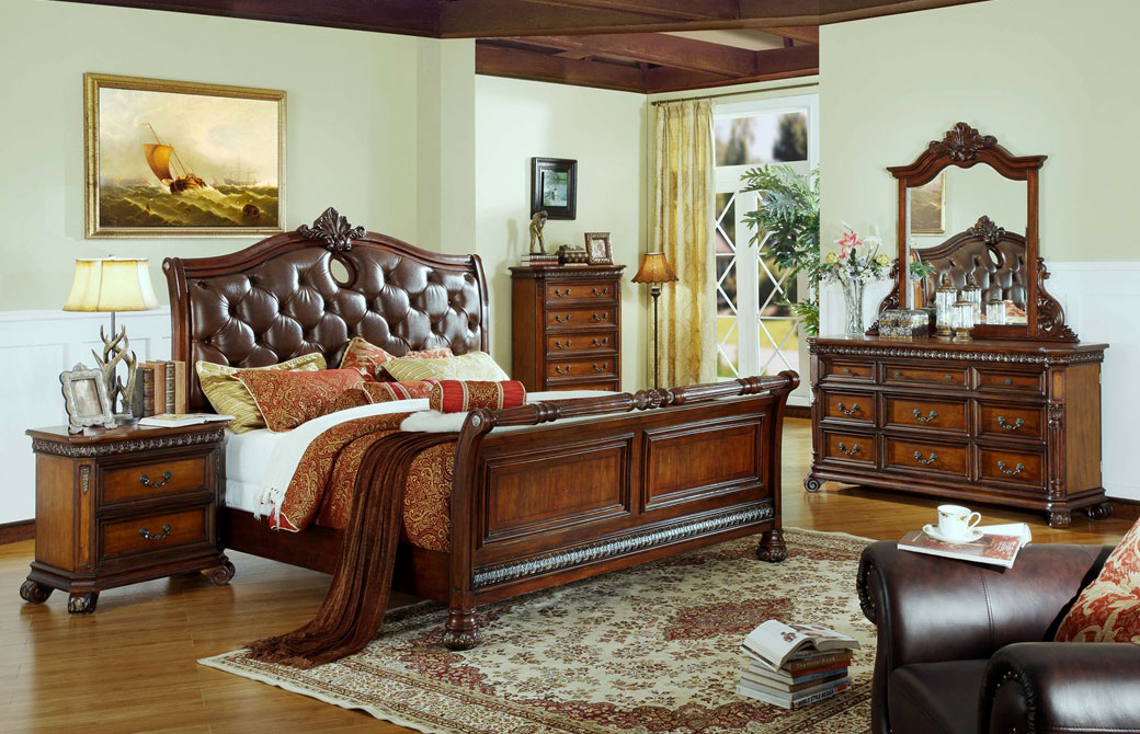 traditional bedroom furniture warm brown traditional bedroom mf-20 pduhaag