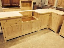 unfinished kitchen cabinets bespoke solid wood kitchen cabinets unfinished - 40mm solid pine worktop pmkzeon