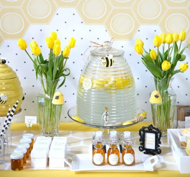 unisex baby shower decorations throw a bumblebee-themed baby shower. objbvzy