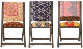 upholstered folding chairs these anthropologie pillowed folding chairs could oh-so-easily become a diy lseruwd