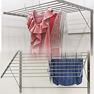 wall mounted clothes drying rack clothes drying rack stainless steel wall mounted folding adjustable  collapsible , 6.5 zmsoiho