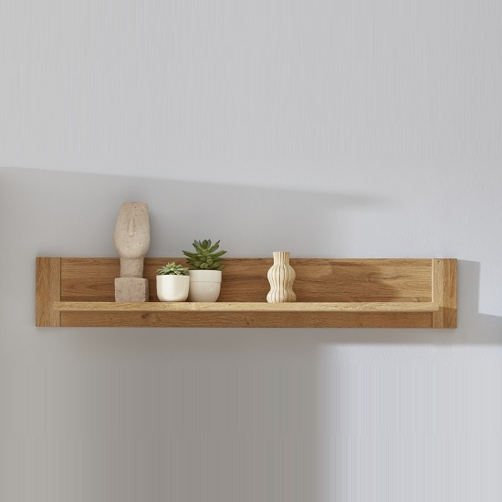 wall mounted display shelves berger wall mounted display shelf rectangular in rustic oak_1 wejrytn