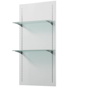 wall mounted display shelves wall-mounted display rack / beauty product / glass / wooden bfpekah