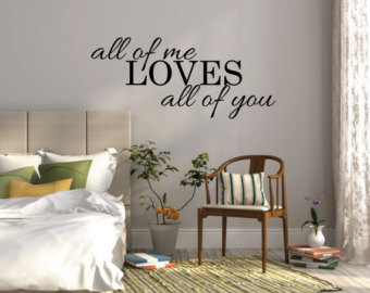 wall stickers for bedrooms all of me loves all of you wall sticker bedroom wall decal quote wokqwjr