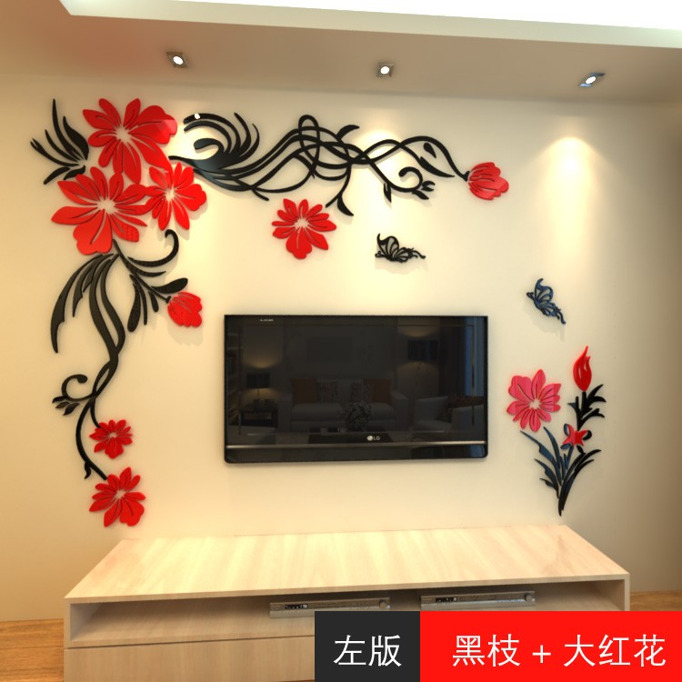 wall stickers for living room crystal three dimensional wall stickers living room tv wall acrylic 3d sofa boezwsi