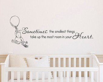 wall stickers for nursery classic winnie the pooh wall decals quotes sometimes the smallest things,  winnie fggosnp
