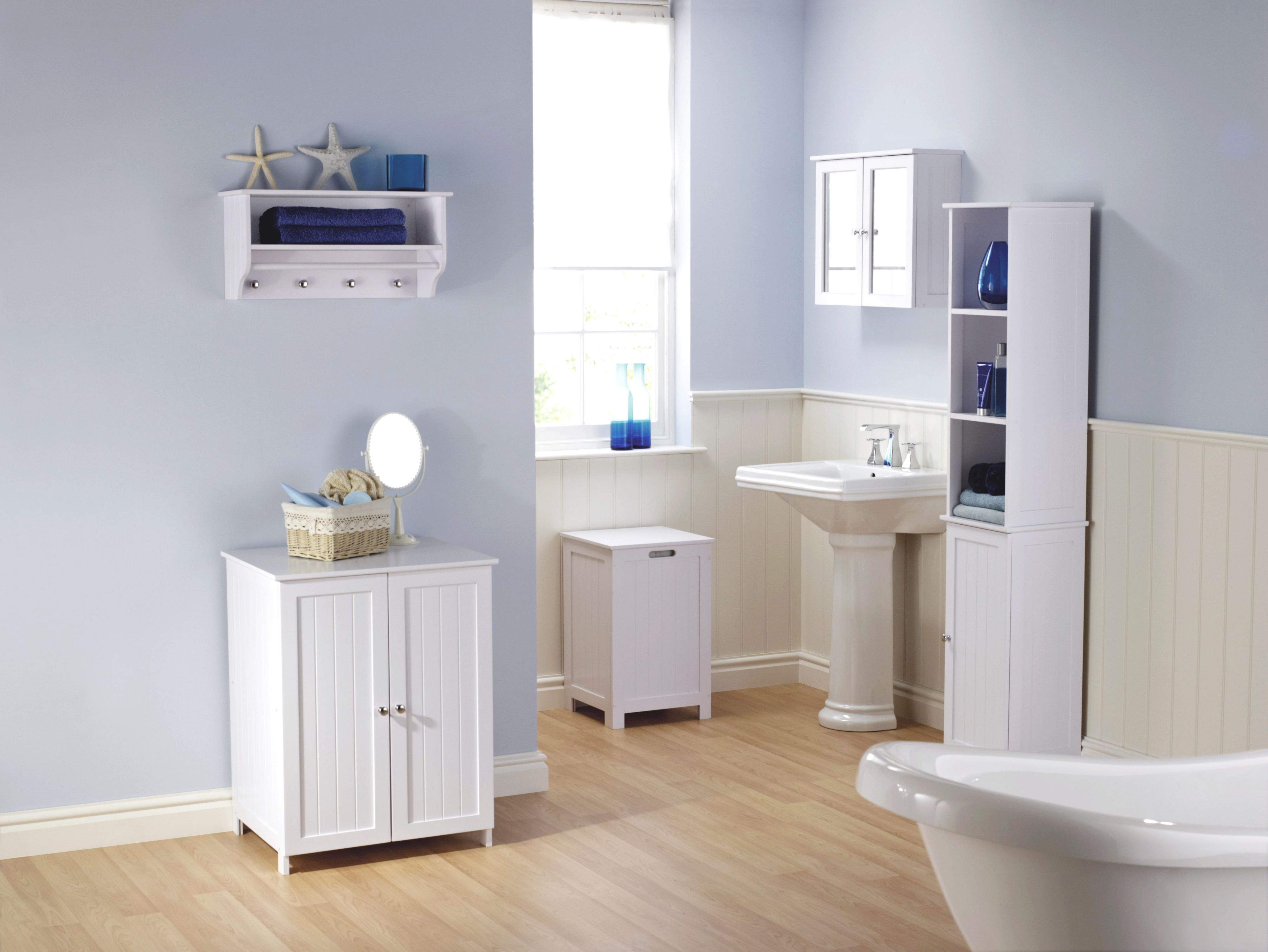 4 creative ideas for white bathroom storage unit