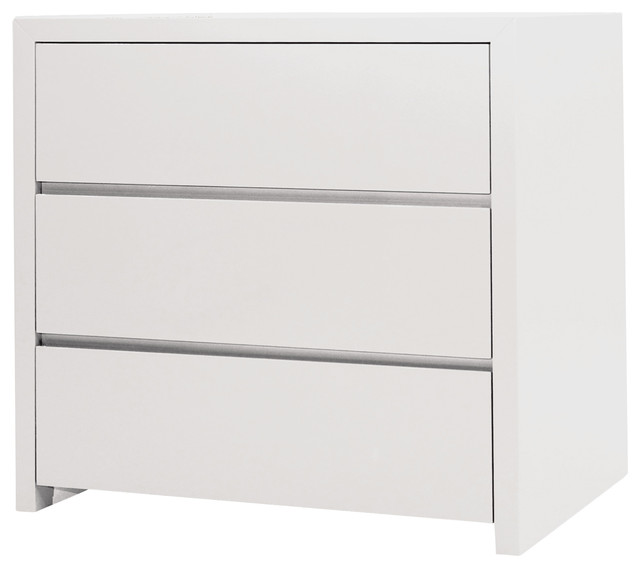 white bedside table with drawers blanche nightstand, white, 3 drawers contemporary-nightstands-and-bedside- tables gamwtrl