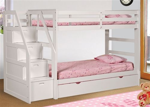 white bunk beds with stairs bunk bed with stairs | white twin over twin stairway bunk bed for nrtccug
