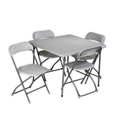 white folding table and chairs work ... rmmtfjb