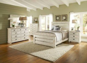 white wood bedroom furniture willow casual distressed white wood 5pc bedroom set w/king slat wsnkrpo