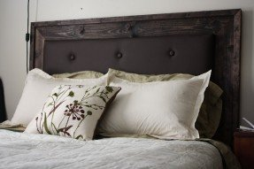 wood and upholstered headboard more like home: simple upholstered headboard ocddlfz