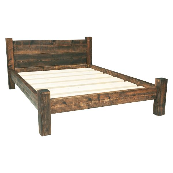 wooden king size bed frame built from solid rustic timber, these wooden bed frames come in all sizes. mbichtt