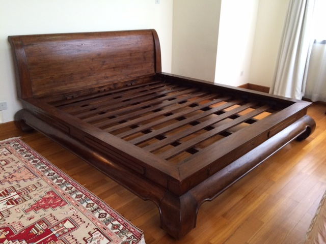 wooden king size bed frame ... origin asia - solid teak wood king size bed frame ... fsfpghh