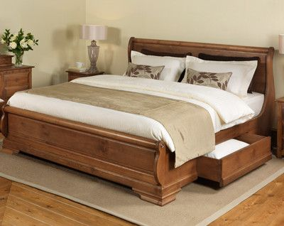 wooden king size bed frame solid wooden sleigh beds up to 8ft wide: revival beds uk | beds xcvmaci