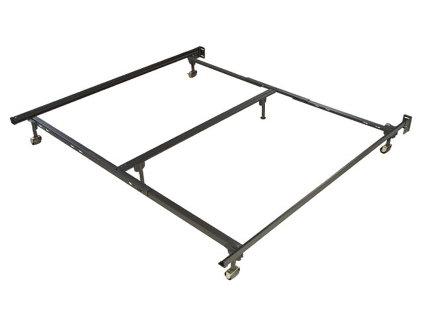 Amazing black metal queen or cal king or eastern king size metal bed frame hhrvpls