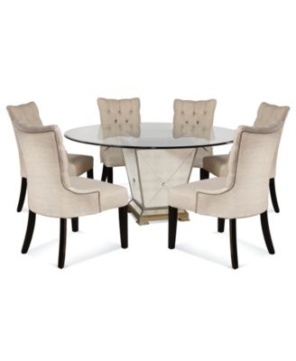 Amazing dining table and 6 chairs marais dining room furniture, 7 piece set (60 oyyzchd