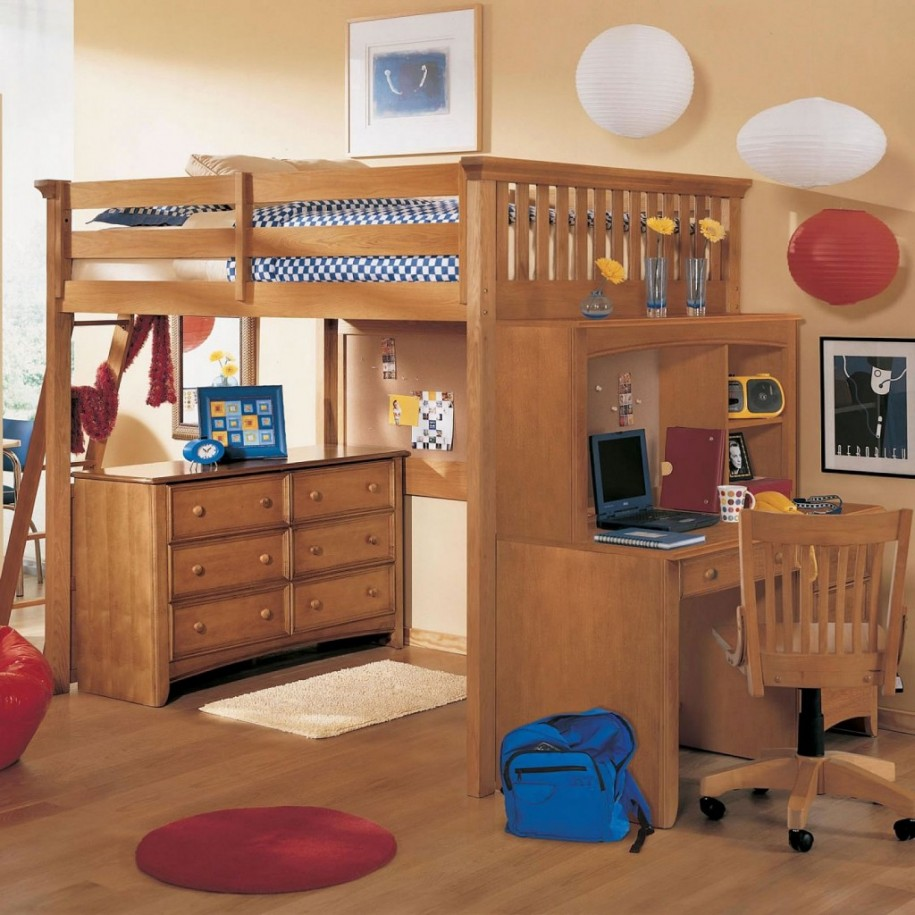 Amazing kids bunk beds with desk ... bunk bed with desk underneath for your kids pact room ujuyekm