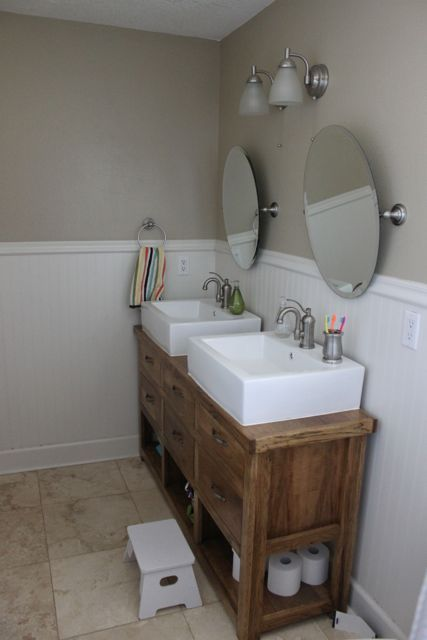 Amazing narrow bathroom vanities dresser turned into double vanity. or console table. i need a skinny vanity kslxyaj