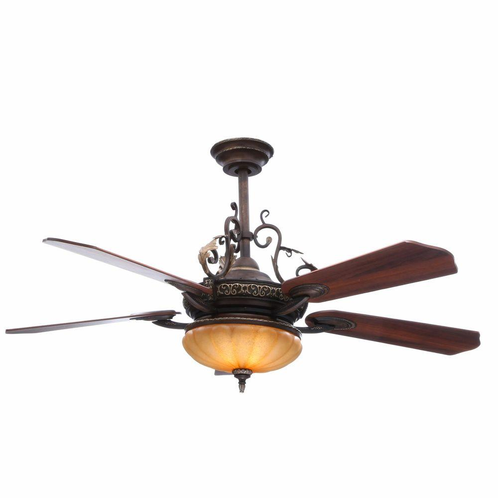 Attractive ceiling fans with lights and remote control chateau de ville 52 in. indoor walnut ceiling fan with light kit and ohaewfj