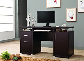 Attractive coaster home furnishings 800107 contemporary computer desk, cappuccino rncvohh