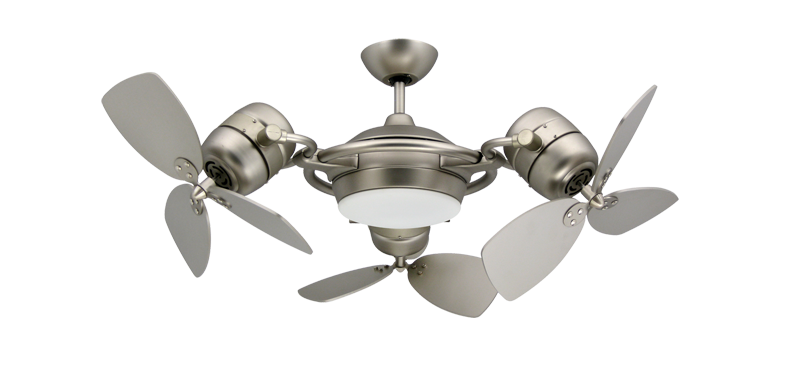 Attractive contemporary ceiling fans with lights troposair tristar 3-motor modern ceiling fan in satin steel with light and szlwddn