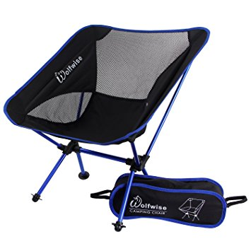 Attractive folding camping chairs in a bag wolfwise ultralight 2.2 lbs folding camping chairs portable backpacking  with carry bag obvdrch