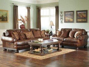 Attractive leather sofa and loveseat princeton-large traditional genuine leather sofa couch loveseat set living  room jlriqib