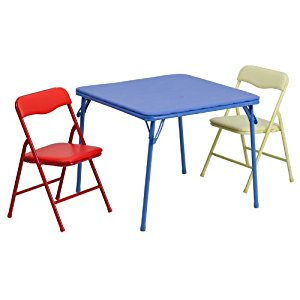Awesome folding table and chairs set flash furniture kids colorful 3 piece folding table and chair set tdgncyo