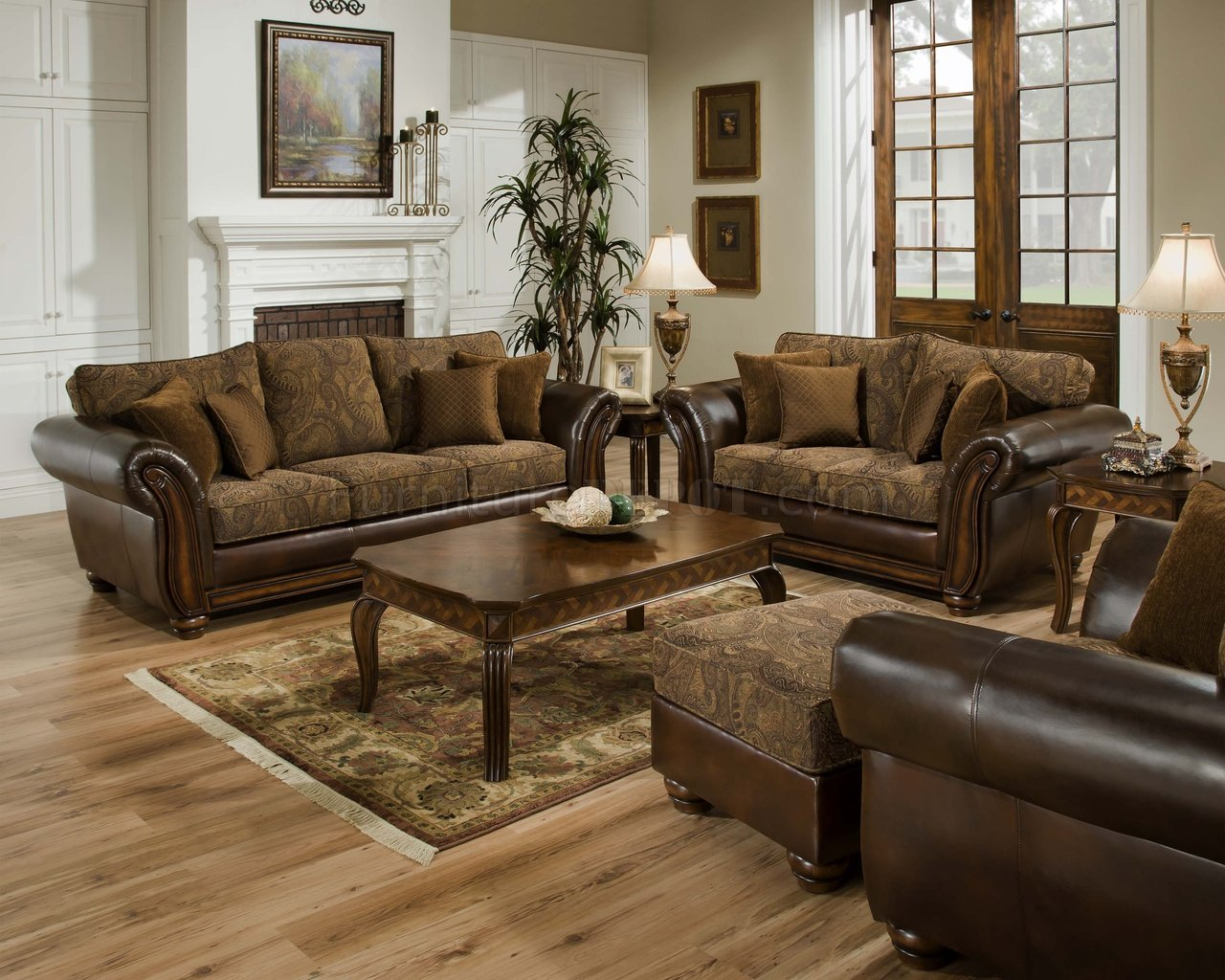 Awesome leather sofa and loveseat vintage chenille sofa u0026 loveseat set w/brown bonded leather base mnyukrz
