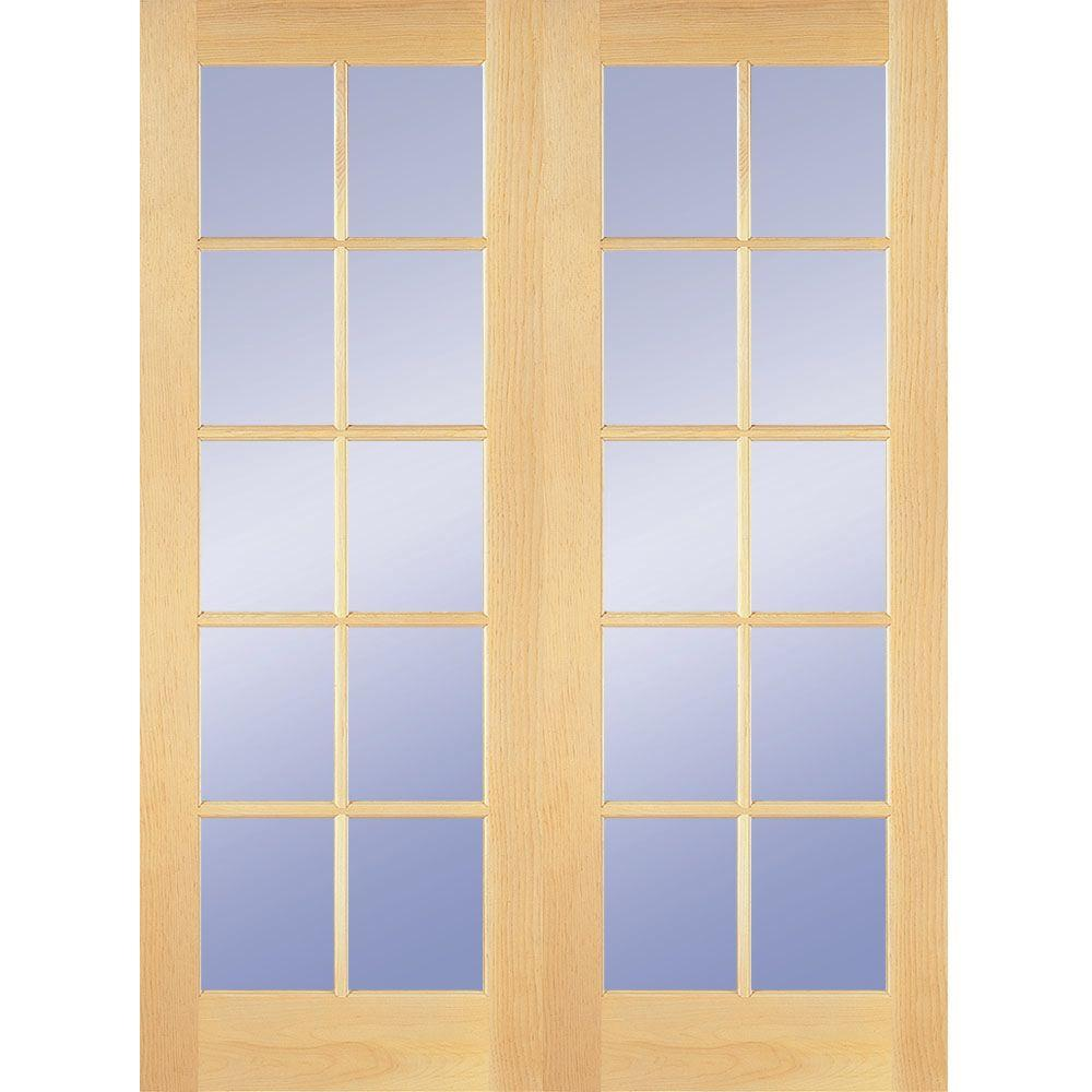 Awesome prehung interior french doors 10-lite clear wood pine prehung qljiond